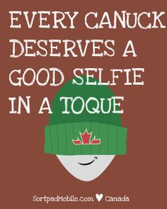 The Canuck Card-o-mator: Toque-selfie // Our special surprise for Canada Day. Meet the beaver, the bear and co. Make your friends' day with our fun free ecards featuring Canadian classics with lovely graphics. Send your greetings with the Canuck Card-o-mator Facebook App: https://apps.facebook.com/canuckcardomator/