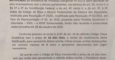 Eduardo Cunha é notificado sobre processo pelo Conselho de Ética