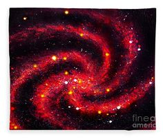 Dark Red Spiral Galaxy Zekhtar Fleece Blanket For Sale By Sofia Metal Queen
