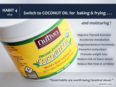 There is SO MUCH great cooking to be done and keeping it healthy starts with using the right oils.  We use Coconut Oil on everything ,from our baking to frying to sautéing to our skin !