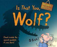 Questo è a mio parere uno dei libri sensoriali più divertenti in commercio!!! Il simpatico maialino è convinto che un pericoloso lupo si aggiri nella sua fattoria....