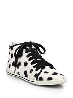 Marc by Marc Jacobs - Dot-Print High-Top Sneakers