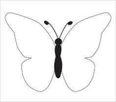 Butterfly Template Free  Rovarok LepkkBugs Butterflies