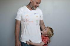 Tee-shirt personnalisé - Fête des pères - Maman à tout faire #fetedesperes #fathersday #kidscraft Father's Day, T Shirt, Tees, Mens Tops, Fashion, Mom, Supreme T Shirt, Moda, Tee Shirt