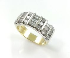 Vintage Estate JB STAR 1.0cttw. Diamond Ring 18k Gold *Genuine Diamonds 18K Gold #JBSTAR #Band