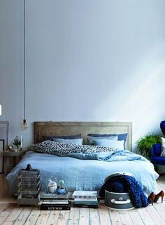 Déco chambre bleu pastel et gris en 2019 | Déco inTérieur BLeu ...
