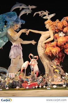 Las Fallas is a fiesta that's really celebrated with a bang... actually a hell of a lot of them! Enjoy giant papier mache creations, fireworks, flower offerings and a giant bonfire. Looking for a getaway in March? Why not head to Valencia! #Valencia #TravelTips #Festivals #LasFallas