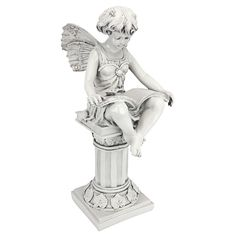 British Reading Fairy Statue is a great unique gift for Fairy lovers is a great unique gift for Fairy lovers and Garden Decor. Find great deals for Fairy Statues Figurines and Statuary Fairy Statues, Garden Statues, Garden Sculptures, Garden Yard Ideas, Lawn And Garden, Garden Shrubs, British Garden, Outdoor Statues, Animal Statues