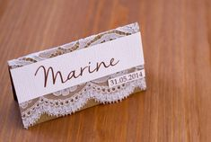 Marque  places gamme mariage dentelle par lamarieeinspiree sur Etsy