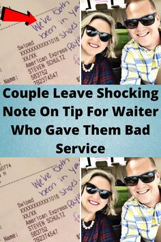 #Couple Leave #Shocking Note On Tip For #Waiter Who Gave Them Bad #Service
