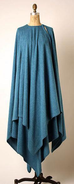 Ensemble Designer: Madame Grès (Alix Barton)  (French, Paris 1903–1993 Var region) Date: 1970s Culture: French Medium: wool