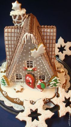 """Купить пряничный домик """" Веселое рождество"""" - Новый Год, рождество, пряничный домик"""