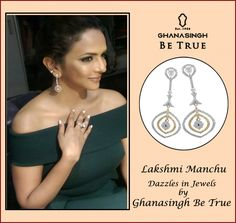 #lakshmimanchu Dazzles in jewels by #GBTBeTrue .