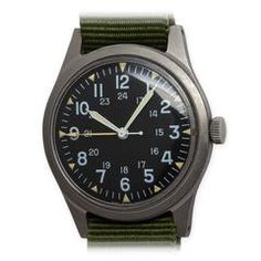 Watches Ideas Hamilton US Military Issue Vietnam Era Wristwatch c. 1971 Discovred by : Todd Snyder Military Issue, Todd Snyder, Vintage Watches For Men, Old Antiques, Luxury Watches, Hamilton, Vietnam, Radios, Middle East