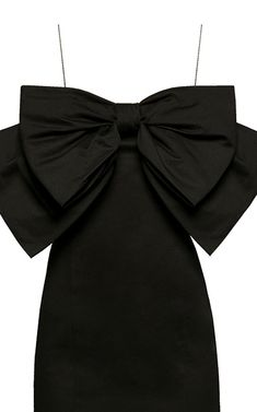 Crème De La Crème Bow-Embellished Satin Dress by Anna October Dress Outfits, Girl Outfits, Fashion Outfits, Classy Outfits, Cute Outfits, October Fashion, Tie Dress, Bandeau Dress, Girl Fashion