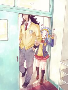 Levy showing off her stupidly tall boyfriend. Inspired by this.