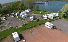 Camperplaats Urmitz (Am Rhein) Motorhome Conversions, Car Places, Motorhome Interior, Laminate Colours, Rv Sites, Rv Parks, Campsite, Van Life, Golf Courses