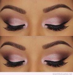 Rose and black eye makeup inspiration