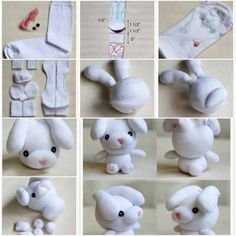 Unique Easter Crafts Ideas and Inspiration for Kids and Adults Sock Crafts, Fun Crafts, Sewing Crafts, Sewing Projects, Crafts For Kids, Sock Bunny, Bunny Bunny, Sewing Stuffed Animals, Sock Dolls