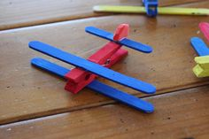 Clothespin Airplane Kids Craft Kit - Makes 4 planes. $5.00, via Etsy.