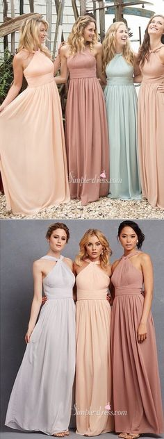 2016 bridesmaid dresses, long bridesmaid dresses, chiffon bridesmaid dresses, wedding party dresses