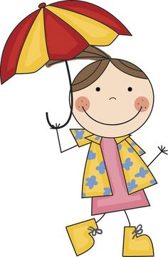 Little Girl With Umbrella Clipart Boy with umbrella clipart boy Art Drawings For Kids, Doodle Drawings, Drawing For Kids, Cartoon Drawings, Doodle Art, Easy Drawings, Art For Kids, Cute Images, Cute Pictures