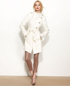 GUESS Asymmetrical Wool-Blend Belted Coat on shopstyle.com