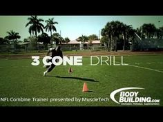Football quick feet 3 cone drill   Kinetic Bands Part 7 - YouTube