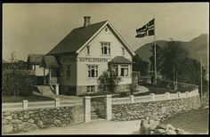 Rogaland fylke Vindafjord kommune ØLEN. Sjeldent kort fra Dørheim, og Hotel Utsikten. Brukt 1929