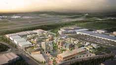 Haptic Architects and Nordic Office of Architecture have released plans for a city next to Oslo Airport that is to be completely powered by self-produced energy and served by driverless electric vehicles.