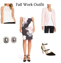 Office style CAN still be fashionable. Here is an easy fall outfit to get you through your work day. Click through for the outfit details and more!