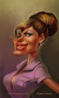 Eva Mendes Caricature by Bogdan Covaciu , from Baia Mare, Romania Crazy Funny Pictures, Funny Pictures Of Women, Celebrity Pictures, Funny Caricatures, Celebrity Caricatures, Eva Mendes, Famous Cartoons, Funny Cartoons, Cartoon Drawings