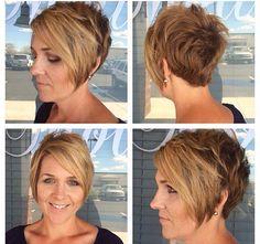 Frauen über 40 haben oft eine langweilige und biedere Frisur? Aber nein doch! Pfiffige Kurzhaarfrisuren für Frauen über 40!