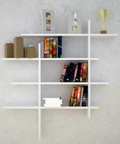 Bücherregal weiß wand  Eckregal holz flur unterschiedliche höhen   Küche   Pinterest ...