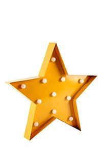 DECORATIVE VINTAGE LIGHT UP STAR WALL LIGHT