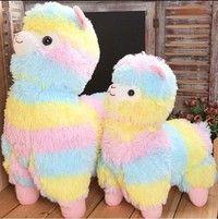 Wish | Super Cute Alpacasso Arpakasso Amuse Rainbow Stripe Alpaca Stuffed Plush Doll Toys (Size: 14 cm, Color: Multicolor)