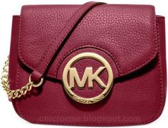Michael Kors New Fulton Small Messenger Cinnabar Crossbody Leather Bag Handbag #bags #chicforme.blogspot.com