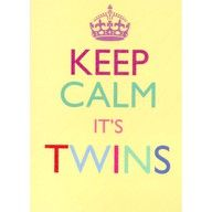 this would be cute to post as Facebook pic if you found out you were prego with twins!