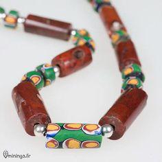 Elmina African Trade Beads Necklace with Venetian par Mininga