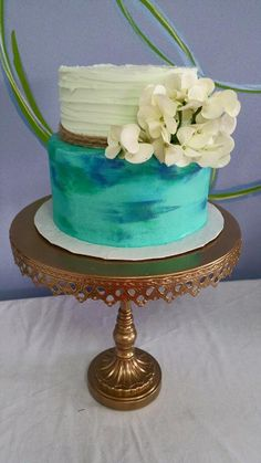 Gorgeous sea glass cake 100% real (yummy) buttercream