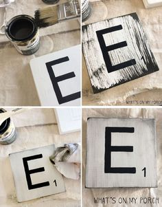 How to make Scrabble inspired tiles for your wall