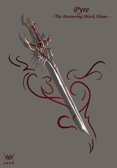 """A little item work : it's the sword in the picture """"vampire armor"""". ([link])"""