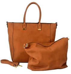 Just Handbags: Apparel: MG Collection PENELOPE 2 in 1 Bucket Shopping Tote Handbag w/ Removable Pouch
