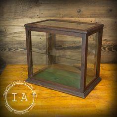 Vintage Industrial Glass Sided Vitrine by IndustrialArtifact, $495.00