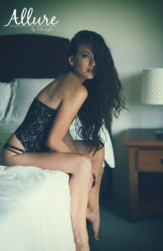Beautiful hair, sexy lingerie, smoldering eyes - what more could a man ask for? Allure by LH Taylor - Keywords: beauty, sexy, lingerie, curves, boudoir, glamour, natural light