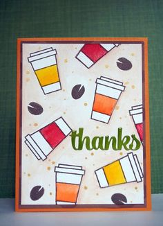 Paper Smooches Coffee thanks card | by Mary-Anne V: