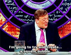 Stephen Fry demonstrating what is clearly witchcraft