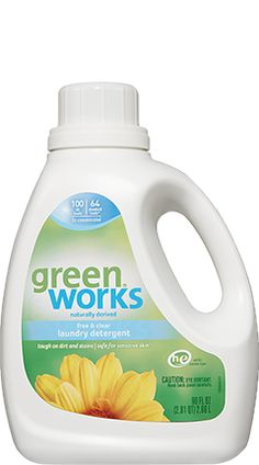 Laundry Detergent Free Clear Scent Green Works With Images