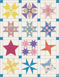 Piece N Quilt: Star Quilt {Block of the Month} Quilt Along