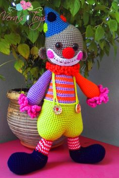 82 Beste Afbeeldingen Van Clown Haken Crochet Dolls Clowns En